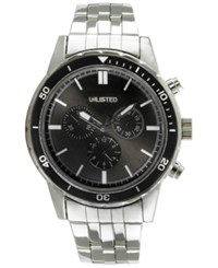Unlisted Men's Chronograph Stainless Steel Bracelet Watch 50Mm 10027771 Only At Macy's Silver