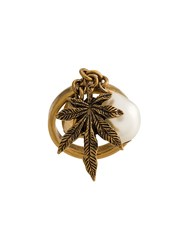 Stella Mccartney Leaf Charm Ring Gold