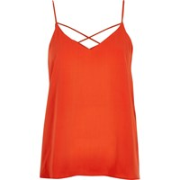 River Island Womens Red Strappy Cami Top