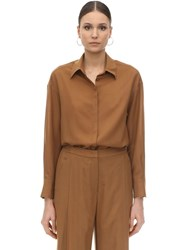 Agnona Wool And Cashmere Shirt Brown
