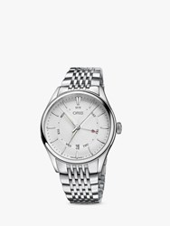 Oris 01 755 7742 4051 07 8 21 79 'S Artelier Pointer Day Date Automatic Bracelet Strap Watch Silver