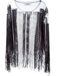 Aviu Aviu Sequin Sheer Blouse Black