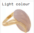 Noor Fares O Fly Me To The Moon Glyptique Carved Wing Ring In Grey Agate With Yellow Gold And Brown Diamonds Pink