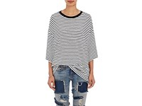 R 13 R13 Women's Striped Oversized T Shirt No Color
