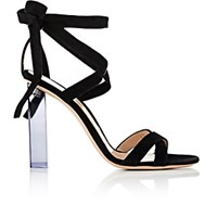 Gianvito Rossi Women's Suede Ankle Tie Sandals Black