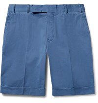 Berluti Cotton Twill Bermuda Shorts Blue