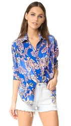 Free People Under The Palms Shirt Blue