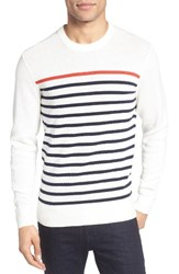 Jack Spade Men's Breton Stripe Sweater White