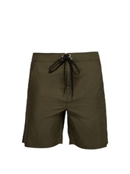 Solid And Striped The Longboard Swim Shorts Green