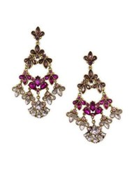 Belle By Badgley Mischka Pink Ombre Stone Cluster Earrings