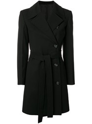 Helmut Lang Double Breasted Trench Black