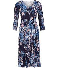 Cc Crinkle Blossom Print Dress Navy