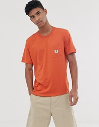 Element Basic Pocket T Shirt In Orange