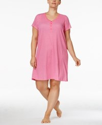 Charter Club Plus Size Henley Style Printed Sleepshirt Only At Macy's Daisy Rows