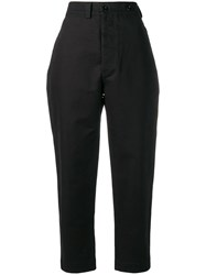 Margaret Howell Tapered Fit Trousers Black
