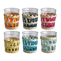 Pols Potten Reed Tea Glasses Set Of 6