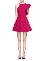 C Meo Collective Heart Commands' Ruffle Sleeve Flare Dress Red