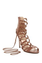 Chase And Chloe Edward High Heel Gladiator Sandal Brown