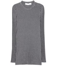 Victoria Beckham Rib Knitted Top Black