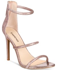 Bebe Berdine Ankle Strap Dress Sandals Women's Shoes Pink Glitter