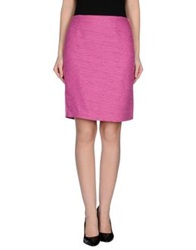 Marella Knee Length Skirts Fuchsia