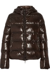 Duvetica Adhara Quilted Shell Down Coat Dark Brown