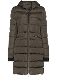 Moncler Betulong Quilted Feather Down Jacket Green