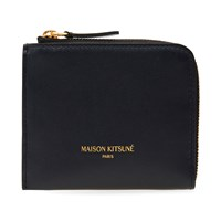 Maison Kitsune Leather Coin Purse Blue