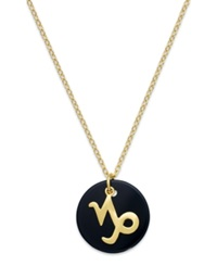 Studio Silver Capricorn Pendant Necklace In 18K Gold Over Sterling Silver