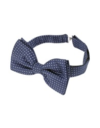 Forzieri Small Polkadot Pre Tied Silk Bowtie Blue White