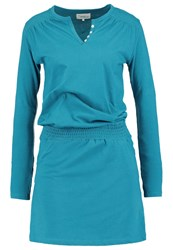 Twintip Jersey Dress Teal Mottled Teal