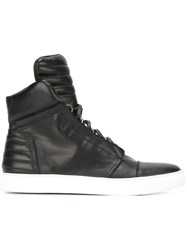 Diesel Black Gold Hi Top Sneakers Black