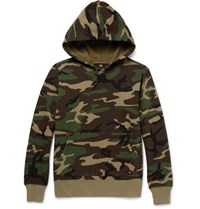 Neighborhood Camouflage Print Cotton Jersey Hoodie Green