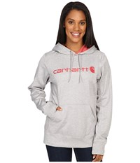 Carhartt Force Extremes Signature Graphic Hooded Sweatshirt Asphalt Heather Women's Sweatshirt Gray