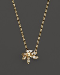 Bloomingdale's Diamond Dragonfly Pendant Necklace In 14K Yellow Gold .15 Ct. T.W.