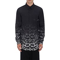 Marcelo Burlon County Of Milan Men's Degrade Ripstop Shirt Blue
