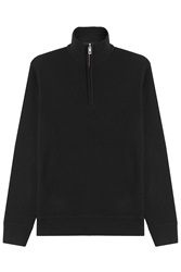 Rag And Bone Rag And Bone Merino Wool Zipped Pullover Black