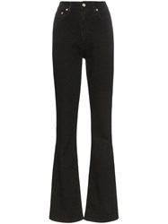 Helmut Lang High Waisted Straight Fit Jeans Black