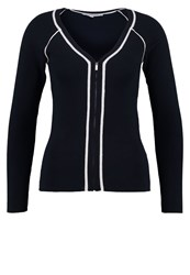 Morgan Cardigan Marine Blanc Dark Blue