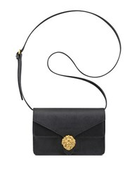 Anne Klein Diana Small Double Flap Crossbody Bag Black