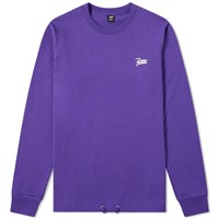 Patta Long Sleeve Athletic Drawcord Tee Purple