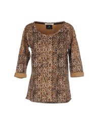 Maison Scotch Topwear Sweatshirts Women Camel