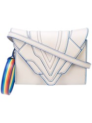 Elena Ghisellini Rainbow Shoulder Bag Grey
