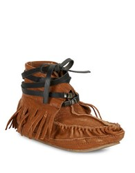 Free People Eastwood Leather Moccasins Tan