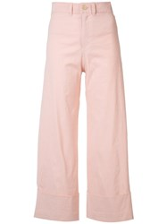 Sea Wide Leg Trousers Pink Purple