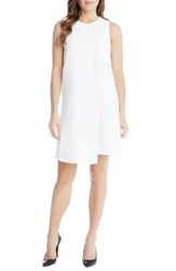 Karen Kane Women's Asymmetrical Shift Dress Off White