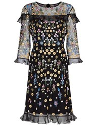 Needle And Thread Black Flower Bed Embroidered Dress