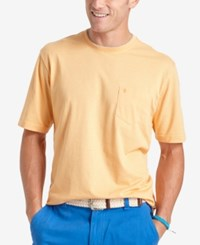 Izod Solid Double Layer Jersey Pocket T Shirt Apricot Nectar