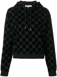 Mcq By Alexander Mcqueen Checked Pull Over Hoodie Black