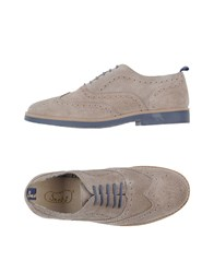 Snobs Footwear Lace Up Shoes Beige